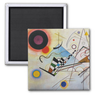 Wassily Kandinsky - Composition 8 - Functional Art Square Magnet
