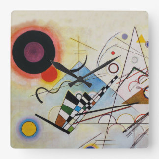 Wassily Kandinsky - Composition 8 - Functional Art Square Wall Clock