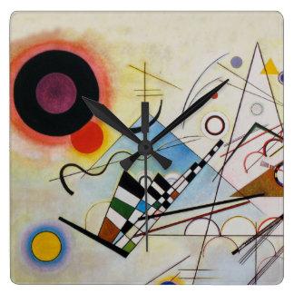 Wassily Kandinsky - Composition 8 - Functional Art Wallclocks