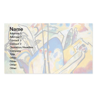 Wassily Kandinsky Composition Four - Abstract Art Pack Of Standard Business Cards