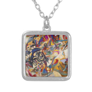 Wassily Kandinsky Composition Seven Square Pendant Necklace