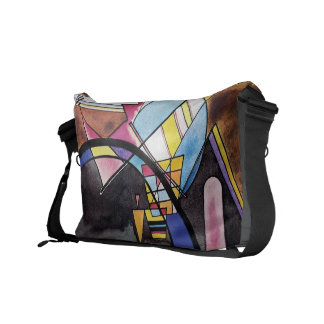 Wassily Kandinsky - Great Gate Of Kiev Abstract Messenger Bag