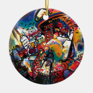 Wassily Kandinsky - Moscow Cityscape Abstract Art Christmas Ornament