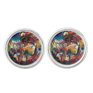 Wassily Kandinsky - Moscow Cityscape Abstract Art Cufflinks