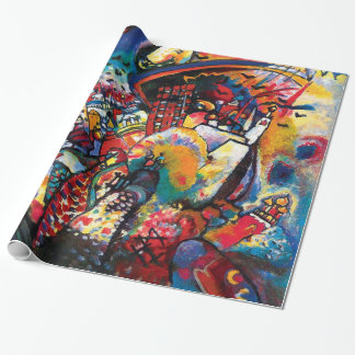 Wassily Kandinsky - Moscow Cityscape Abstract Art Wrapping Paper