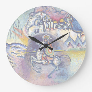 Wassily Kandinsky - Saint George & The Horsemen Large Clock