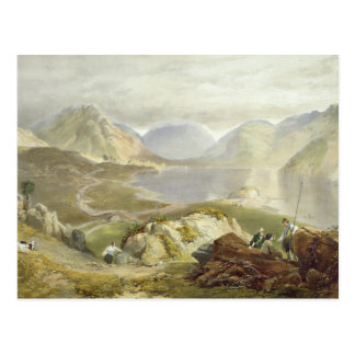 Wast Water, from 'The English Lake District', 1853 Postcard