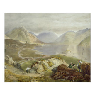Wast Water from The English Lake District 1853 Print
