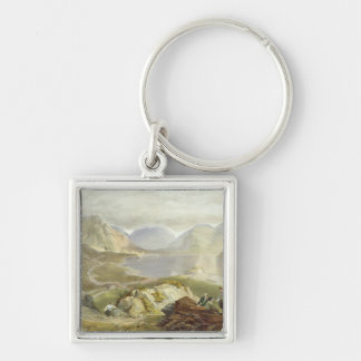 Wast Water, from 'The English Lake District', 1853 Silver-Colored Square Key Ring