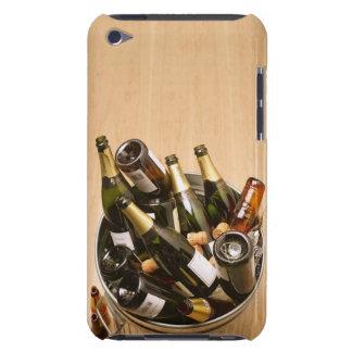 Waste bin full of empty champagne bottles on iPod Case-Mate cases