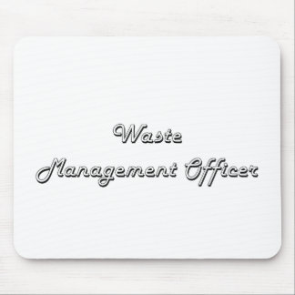 Waste Management Officer Classic Job Design Mouse Pad