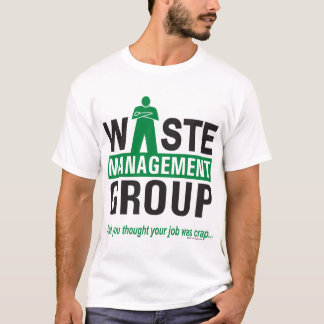 Waste Management on White T-Shirt