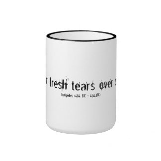 Waste not fresh tears inspirational quote mug