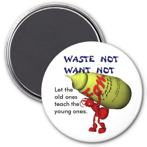 Waste Not, Want Not Magnet