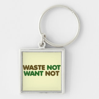 Waste not want not on earth day key chains
