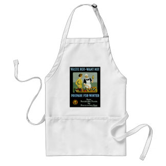 Waste Not - Want Not ~ Prepare for Winter Standard Apron