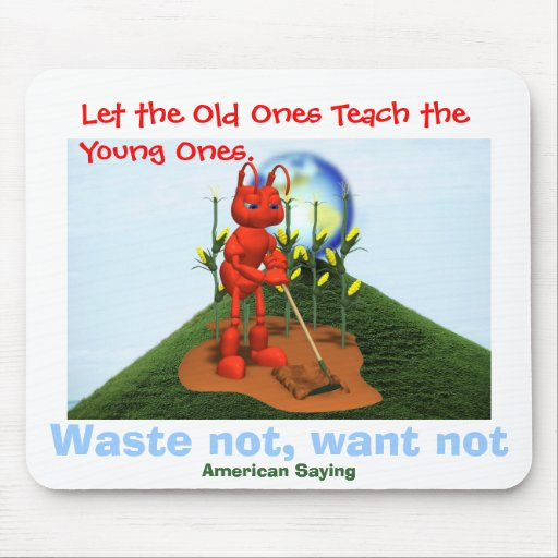 Waste Not, Want ot Mouse Pad