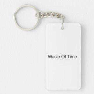 Waste Of Time.ai Rectangular Acrylic Key Chain
