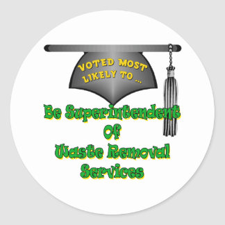 Waste Removal Services Round Sticker