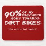 Wasted Money Dirt Bike Motocross Mousepad