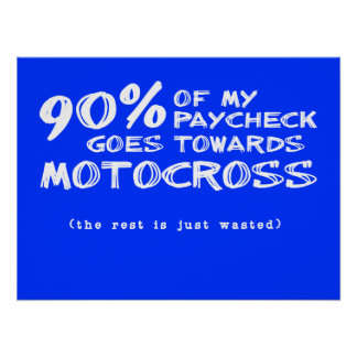 Wasted Money Dirt Bike Motocross Poster