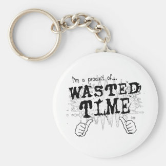 wasted time keychain