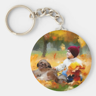 wasted time_Painting.jpg Key Chain