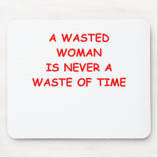 wasted woman mouse pad