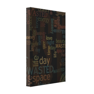 Wasted Words Collage Canvas Prints