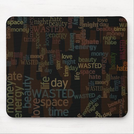 Wasted Words Collage Mousepad