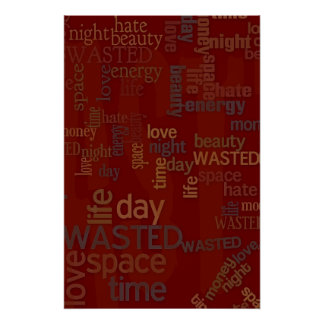 Wasted Words Collage Print