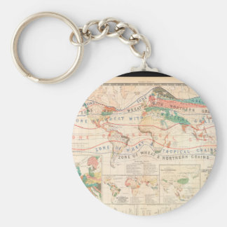 Wasted World Map 29 Basic Round Button Key Ring