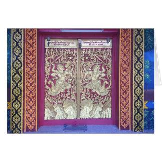 Wat Entrance in Chiang Mai, Thailand Card