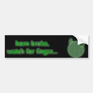 Watch for finger bumper sticker