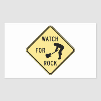 WATCH FOR ROCK- rock and roll/music/indie/metal Rectangular Sticker