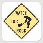 WATCH FOR ROCK- rock and roll/music/indie/metal Sticker