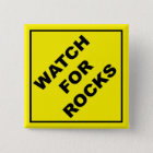 Watch For Rocks Sign 15 Cm Square Badge