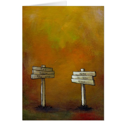 Watch for Signs - motivational painting DAILY ART Card