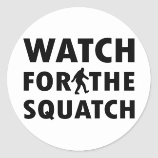 Watch for Squatch Classic Round Sticker
