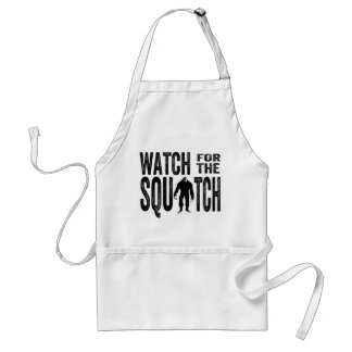 Watch for the Squatch - Funny Bigfoot Adult Apron