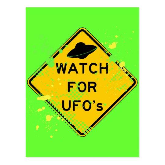 WATCH FOR UFO's Postcard