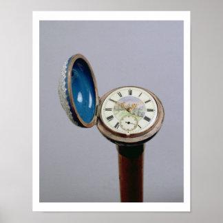Watch gadget cane (cloisonne enamel) poster