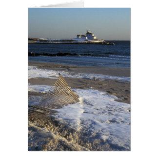 Watch Hill Rhode Island Beach and Lighthouse Card