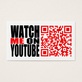 Watch Me on YouTube | Modern (Dark) Business Card