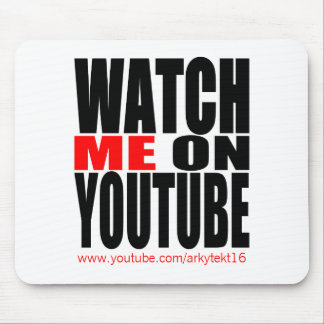 Watch Me on YouTube | Modern (Dark) Mouse Mat