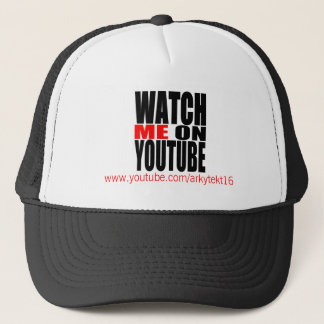 Watch Me on YouTube | Modern (Dark) Trucker Hat