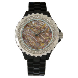 Watch- Natural Earth Tones, Beads Print Watch