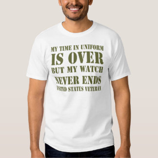 Watch Never Ends T-Shirt (Olive Grn)
