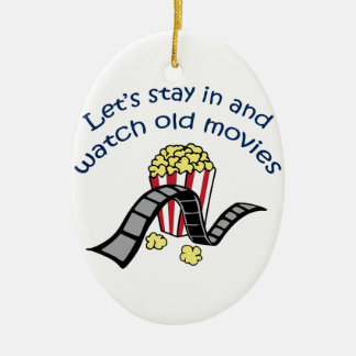 Watch Old Movies Ceramic Oval Decoration