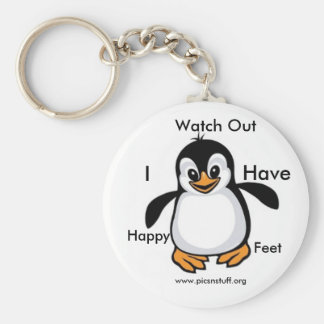 Watch Out Basic Round Button Key Ring
